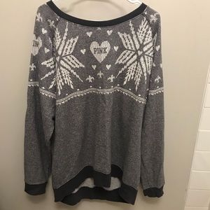 VS PINK Snowflake Holiday Sweater